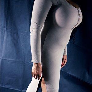 Tan long sleeve dress